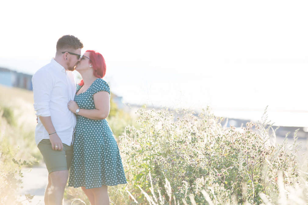 Whitstable engagement shoot | golden hour on Tankerton slopes | Rebecca Kathryn Photography www.rebeccakathryn.co.uk | Kent wedding photographer
